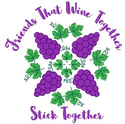 Friends Stick Together embroidery design