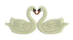 Swan Love embroidery design