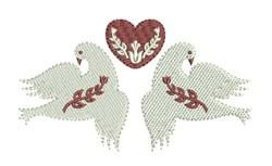 Folk Art Doves embroidery design