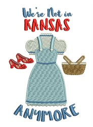 Not In Kansas embroidery design