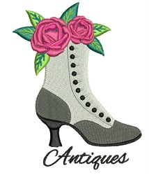 Antique Boot embroidery design