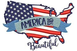 American The Beautiful embroidery design