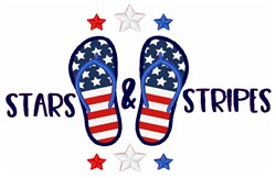 Patriotic Flip Flops Applique embroidery design