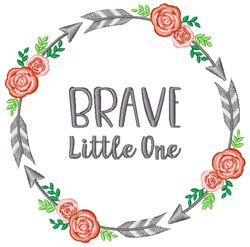 Brave Little One embroidery design