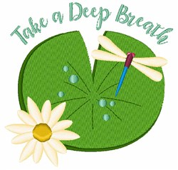 A Deep Breath embroidery design
