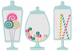 Candy Jars embroidery design