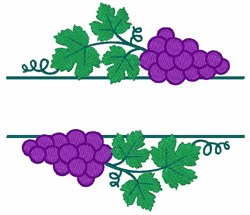 Grape Bunch Fruit Border embroidery design