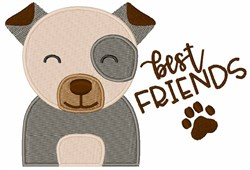 Best Friends Puppy embroidery design
