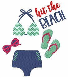 Hit The Beach embroidery design