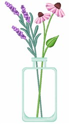 Wildflower Vase embroidery design