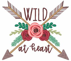 Wild At Heart embroidery design