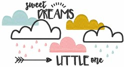 Sweet Dreams Little One embroidery design