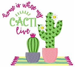 Where My Cacti Live embroidery design
