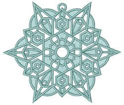 Christmas Snowflake Ornament embroidery design