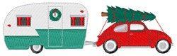 Christmas Camper embroidery design