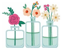 Flower Bud Vases embroidery design