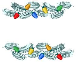 Christmas Garland embroidery design
