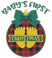 Baby First Christmas embroidery design