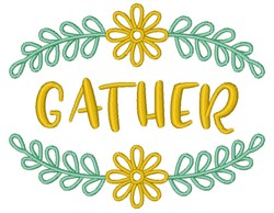 Gather Floral Fram embroidery design