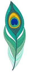 Ombre Boho Peacock Feather embroidery design
