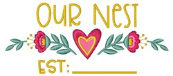 Our Nest embroidery design