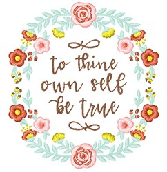 Be True embroidery design