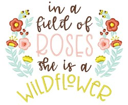 Field Of Roses embroidery design