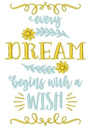 Dream Wishes embroidery design