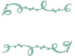 Vine Border embroidery design