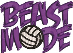 Beast Mode embroidery design