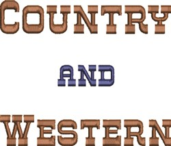 Country & Western embroidery design