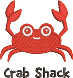 Crab Shack embroidery design