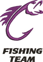 Fishing Team embroidery design