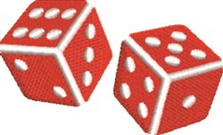 Gambling Dice embroidery design