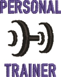 Perosnal Trainer embroidery design