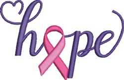 Hope Ribbon embroidery design