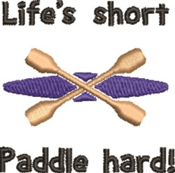 Lifes Short embroidery design
