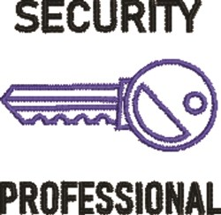 Security Professional embroidery design