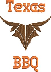 Texas BBQ embroidery design