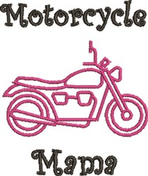 Motorcycle Mama embroidery design