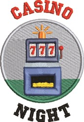 Slot Machine 1A embroidery design