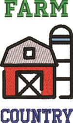 Farm Country embroidery design