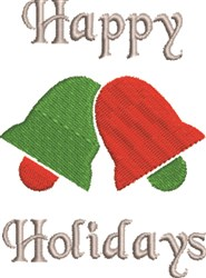 Happy Holidays Bells embroidery design