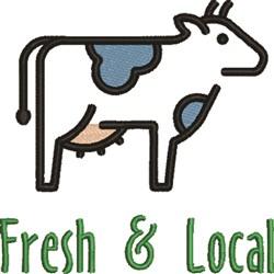 Fresh & Local embroidery design