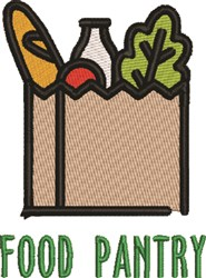 Food Pantry embroidery design