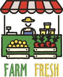 Farm Fresh Farmers Market embroidery design