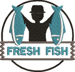 Fresh Fish embroidery design