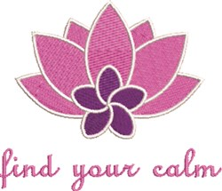 Find Your Calm embroidery design