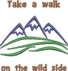 Walk On The Wild Side embroidery design