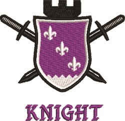 Knights Royal Crest embroidery design
